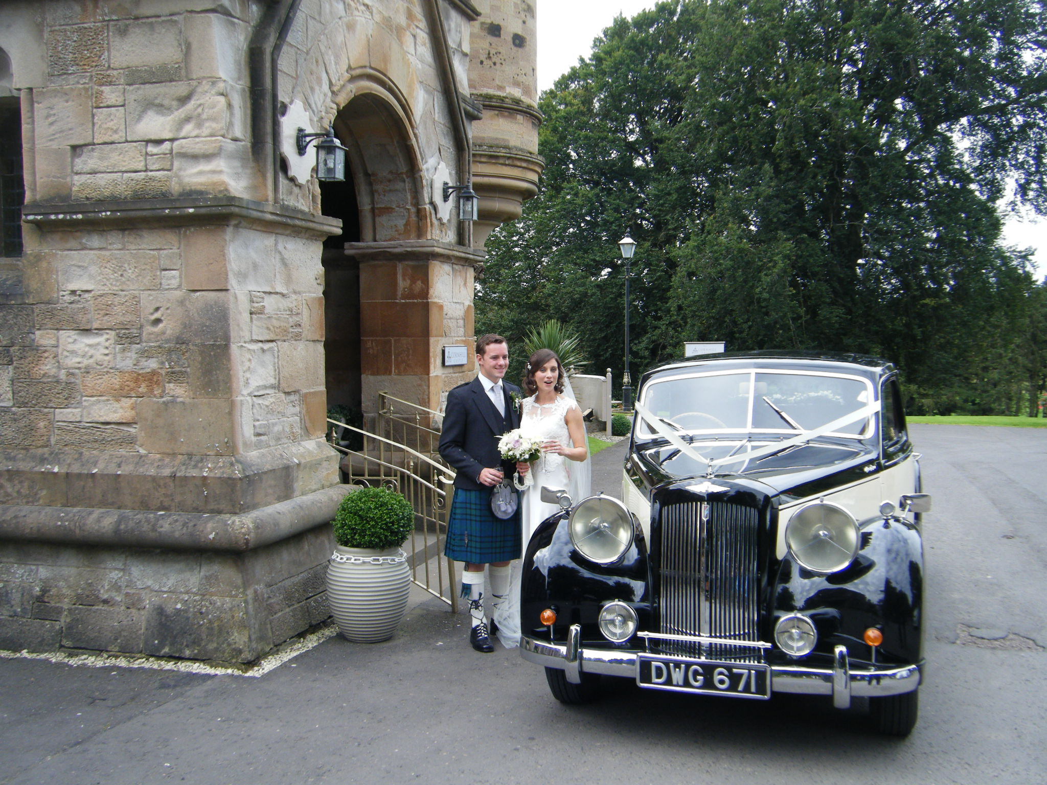 Congratulations To David And Natalie On Their Marriage Sunday 28th August 2016 At Biggar Parish Church Followed By The Reception Cornhill Castle