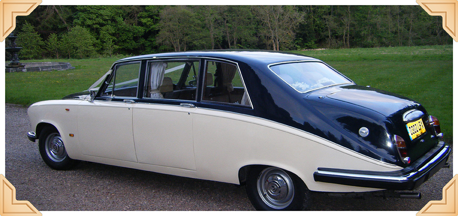 Home page image - Daimler limo, black and white